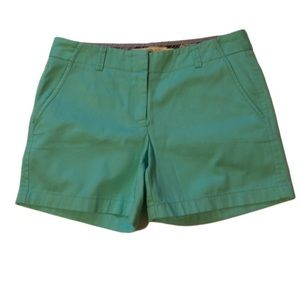J Crew broken in chino shorts mint green size 6